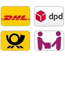 Versand mit DHL und deutsche Post