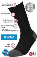 Medic Deo Silverwool Diabetikersocken mit Wolle vom Merinoschaf und Silber antibaktierell warm