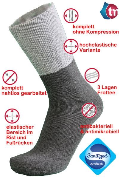 Ultraflex Venensocken Frottee mit extra weitem Bund speziell für geschwollene Beine