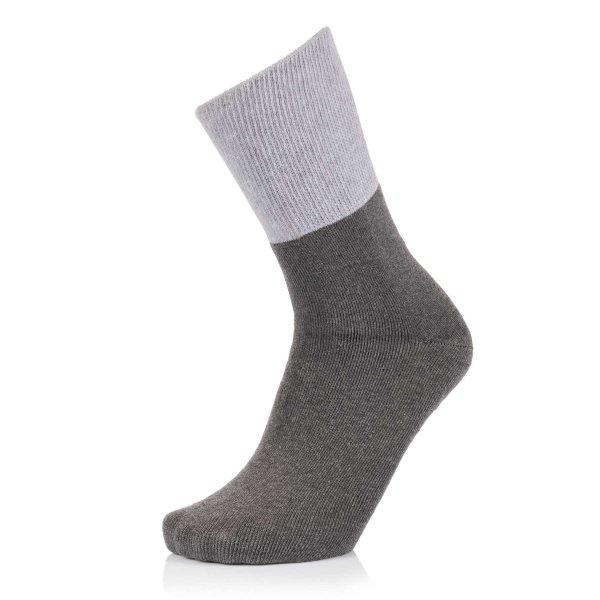 Ultraflex Frottee Venensocken mit extra weitem Bund speziell für geschwollene Beine 35-37 aschgrau-grau