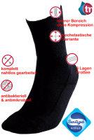 Ultraflex Frottee Venensocken mit extra weitem Bund speziell für geschwollene Beine 41-43 schwarz