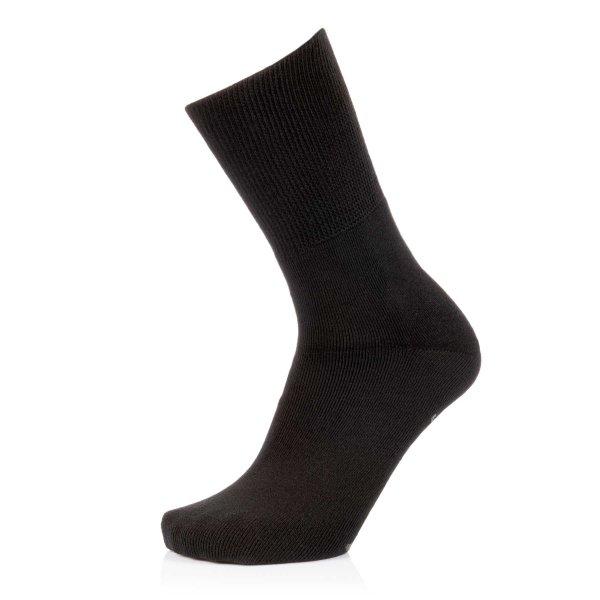 Ultraflex Frottee Venensocken mit extra weitem Bund speziell für geschwollene Beine 44-46 schwarz