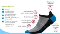 Mini Sportsneaker Antibakteriell gegen Geruch nahtlos  41-43 weiss-grau