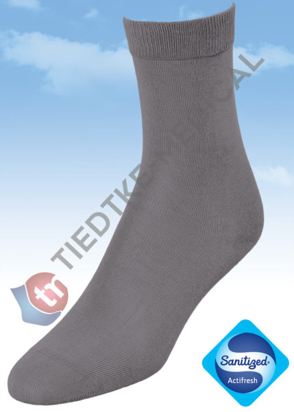 Basic Women Baumwollsocken 36-38 grau