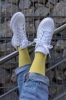 Basic Women Baumwollsocken 36-38 gelb