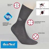 DEOMED® MosquitoStop Bambussocken gegen Stechmücken dunkelgrau 39-42