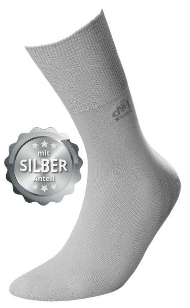 DEOMED Cotton Silver Baumwollsocken mit Silber hellgrau 35-38
