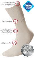 DEOMED Cotton Silver Baumwollsocken mit Silber hellgrau 43-46