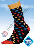 Basic Women Baumwollsocken 36-38 square-multicolor
