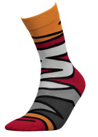 Basic Women Baumwollsocken - Anti Geruch 39-41 zigzag-orange