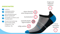 Mini Sportsneaker Antibakteriell gegen Geruch nahtlos 44-46 weiss