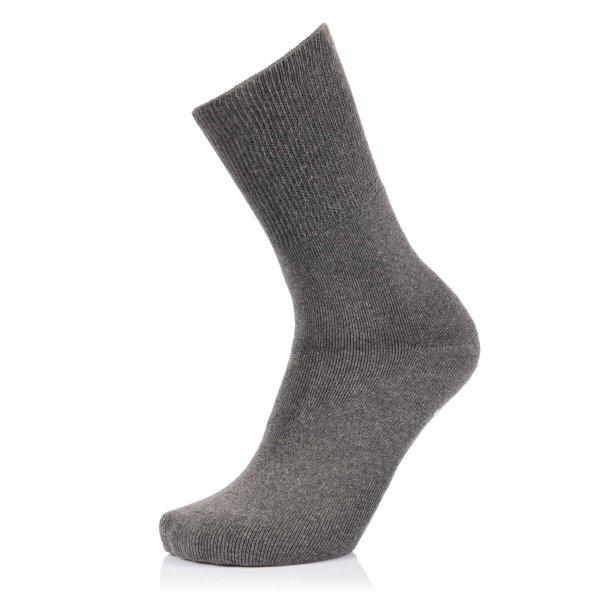 Ultraflex Frottee Venensocken mit extra weitem Bund speziell für geschwollene Beine 44-46 grau
