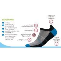 Mini Sportsneaker Antibakteriell gegen Geruch nahtlos 41-43 schwarz