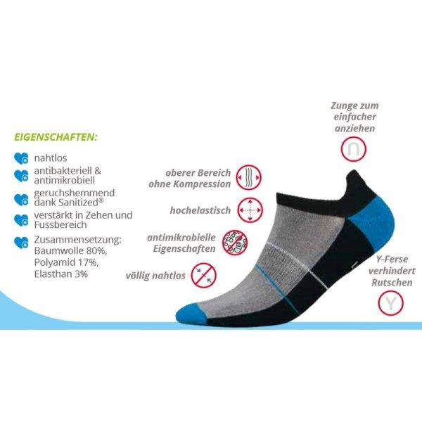 Mini Sportsneaker Antibakteriell gegen Geruch nahtlos 41-43 orange