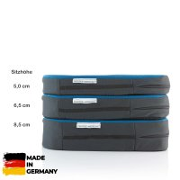Sitzkissen orthopädisch gesunder Rücken 6,5 cm blau