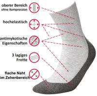 Baumwollsocken MEDIC DEO COTTON-aschgrau-grau-38-40