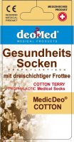Baumwollsocken MEDIC DEO COTTON-aschgrau-grau-41-43