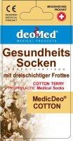 Baumwollsocken MEDIC DEO COTTON-aschgrau-grau-47-49