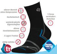 Socken NORDIC WALKING DEO-schwarz-38-40