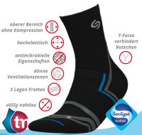 Socken NORDIC WALKING DEO-schwarz-41-43