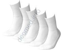 5 Paar Diabetikersocken extra weit nahtlos Frottee MEDIC DEO Cotton weiss 35/37