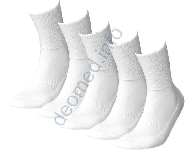 5 Paar Diabetikersocken extra weit nahtlos Frottee MEDIC DEO Cotton weiss 44/46