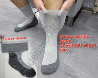 5 Paar Diabetikersocken extra weit nahtlos Frottee MEDIC DEO Cotton aschgrau-grau 47/49