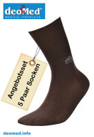 5paar extra dünne Bambus Socken Diabetiker o. Naht o. Kompression Antigeruch braun 39-42
