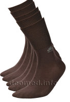 5paar extra dünne Bambus Socken Diabetiker o. Naht o. Kompression Antigeruch braun 43-46