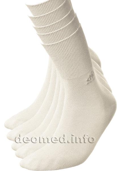 5paar extra dünne Bambus Socken Diabetiker o. Naht o. Kompression Antigeruch creme 35-38