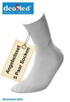 5paar extra dünne Bambus Socken Diabetiker o. Naht o. Kompression Antigeruch aschgrau 35-38