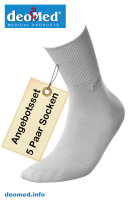 5paar extra dünne Bambus Socken Diabetiker o. Naht o. Kompression Antigerucht aschgrau 43-46