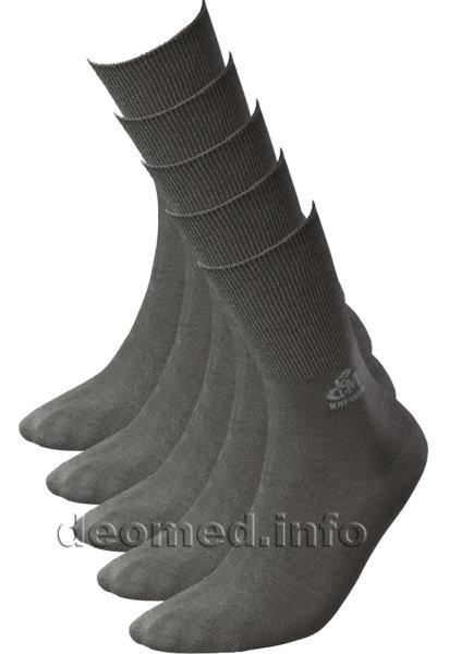 5paar extra dünne Bambus Socken Diabetiker o. Naht o. Kompression Antigeruch dunkelgrau 35-38