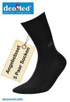 5paar extra dünne Bambus Socken Diabetiker o. Naht o. Kompression Antigerucht schwarz 47-50